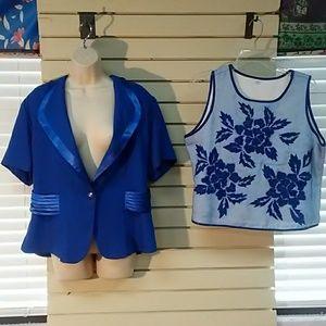 Jacket and blouse set